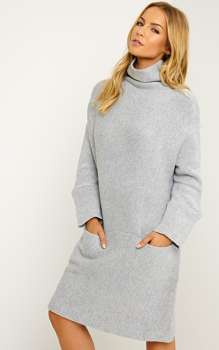 Nim Grey Oversized Knitted Dress 4