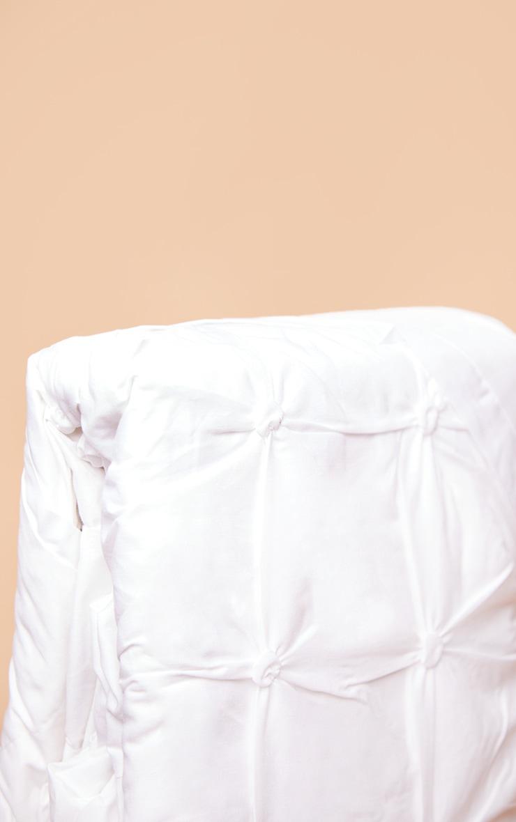 White Ruched Pin Tuck Super King Duvet Set 4