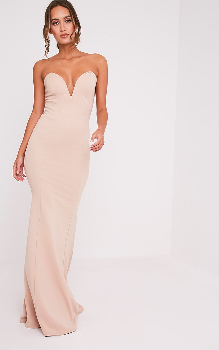Wendie Nude Sweetheart Fishtail Maxi Dress 4