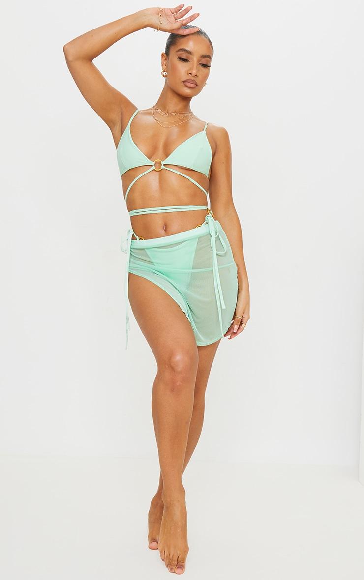 Mint Split Side Beach Skirt 1