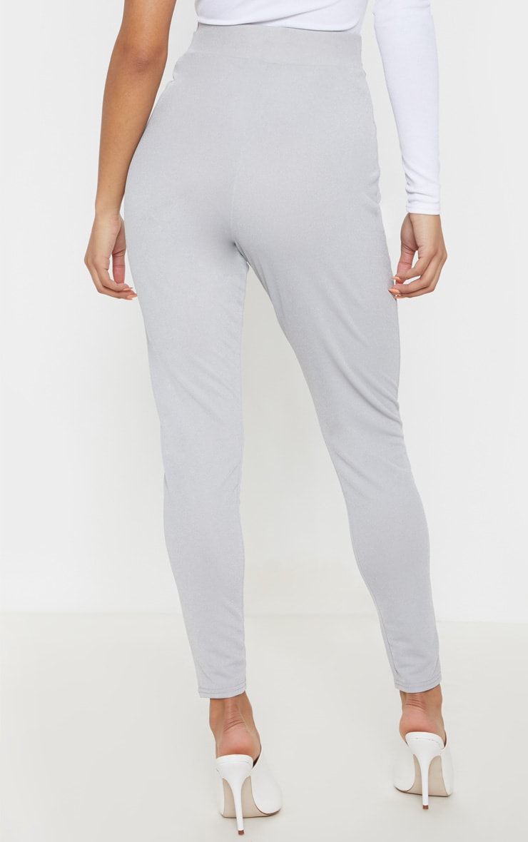 Grey Wrap Front Skinny Trouser  4