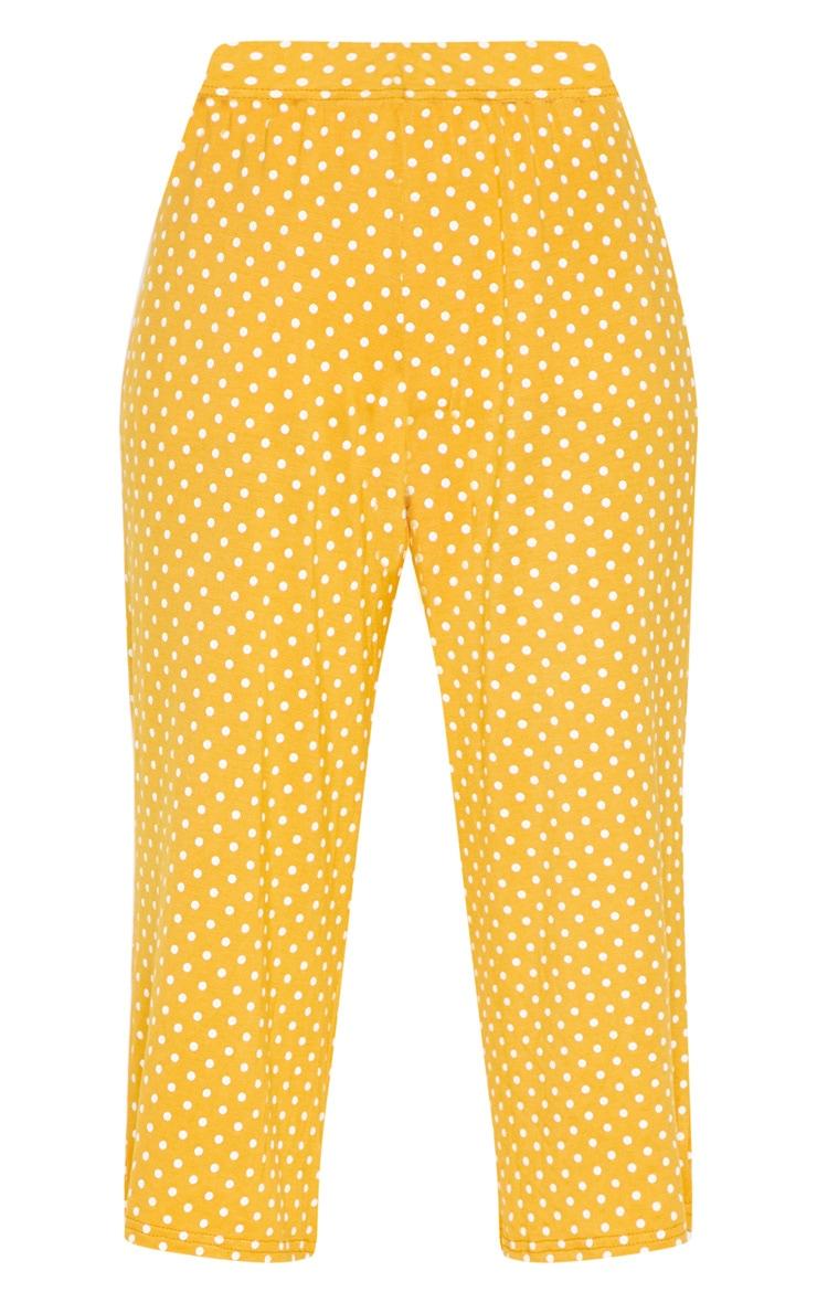 Mustard Polka Dot Culotte 3