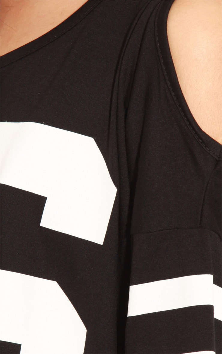 Ryleigh Black 96 Cut Out Shoulder Tee 5