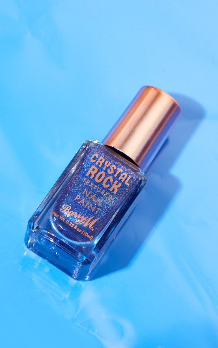Barry M Crystal Rock Nail Paint Blue Sapphire 2