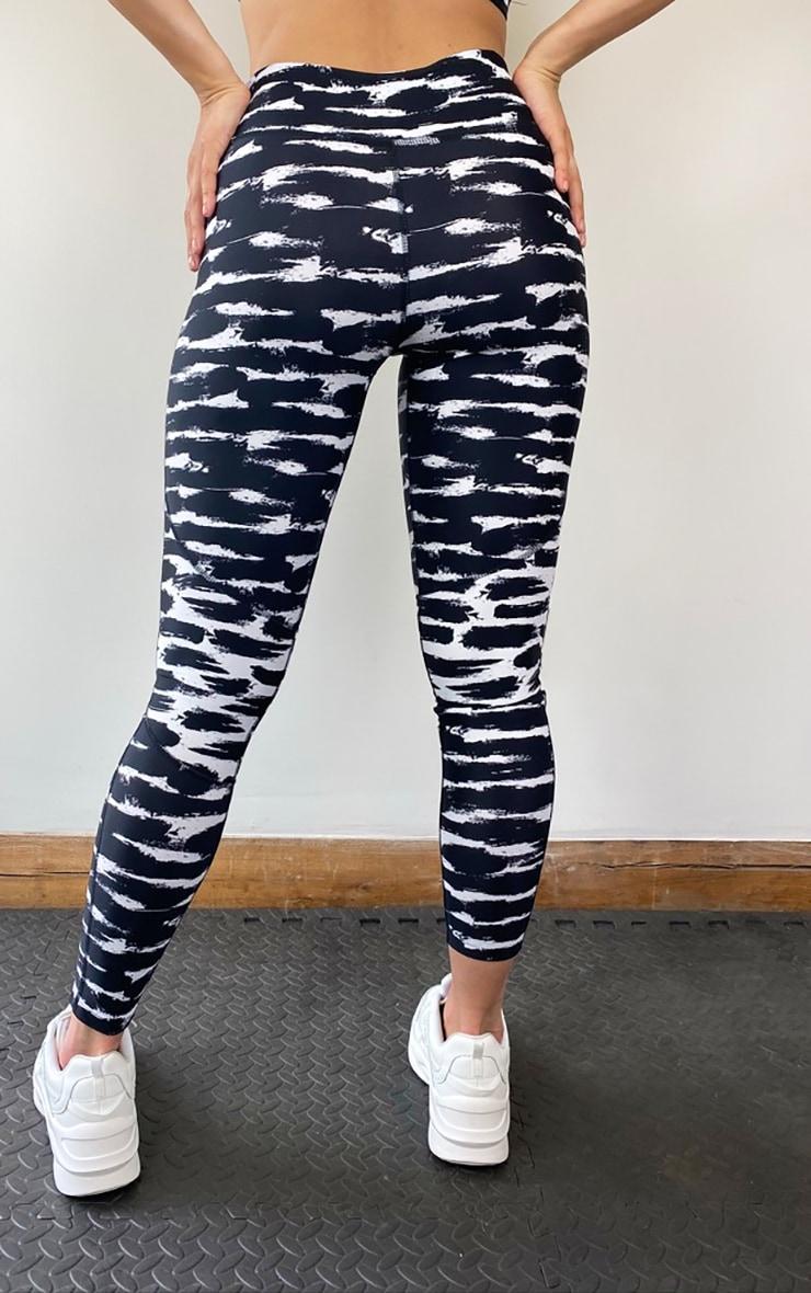 Black Tie Dye Gym Leggings 3