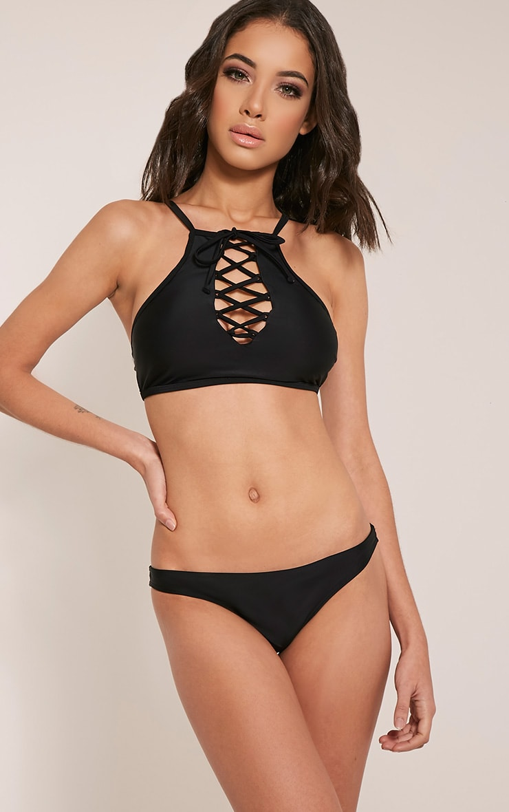 Praya Black Mix and Match Bikini Bottoms 1