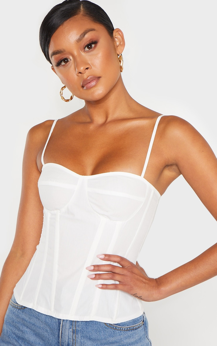 White Structured Corset Top 6