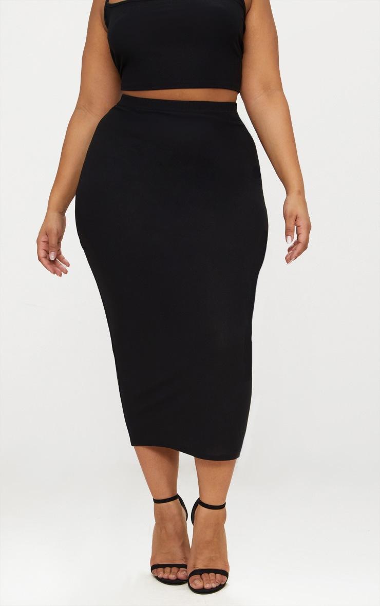 Plus Black Midaxi Skirt 2