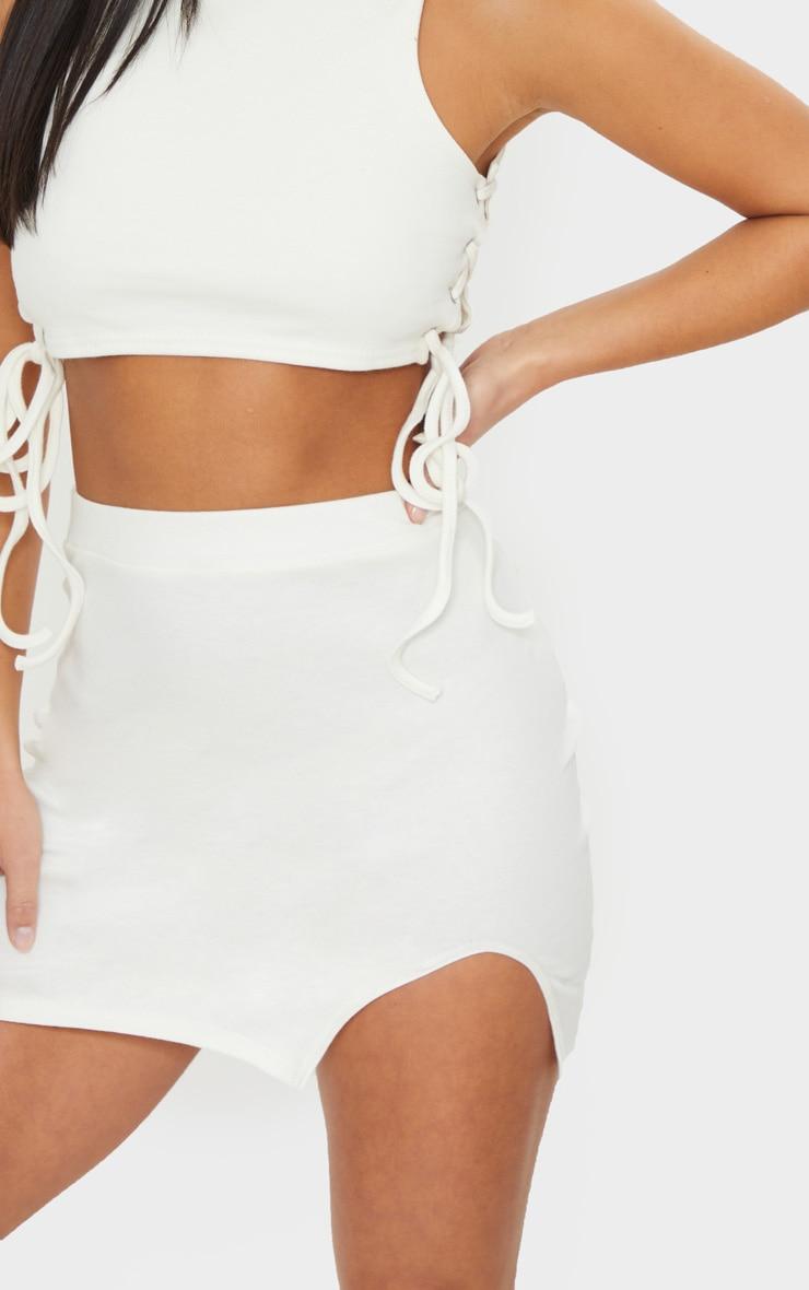 Petite Cream Cotton Jersey Mini Skirt 5