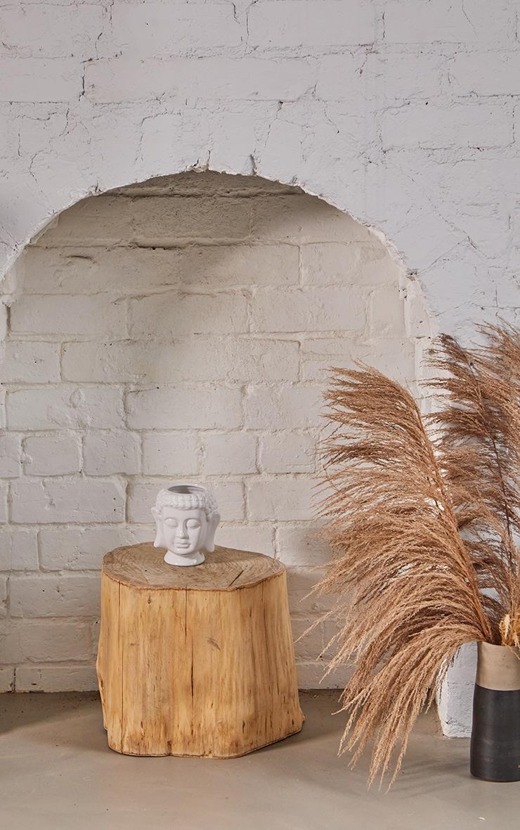 White Ceramic Buddha Head Planter 2
