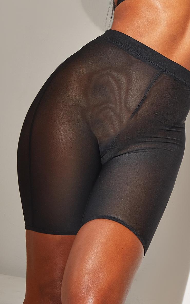 Black Shapewear Power Mesh Control Shorts 4