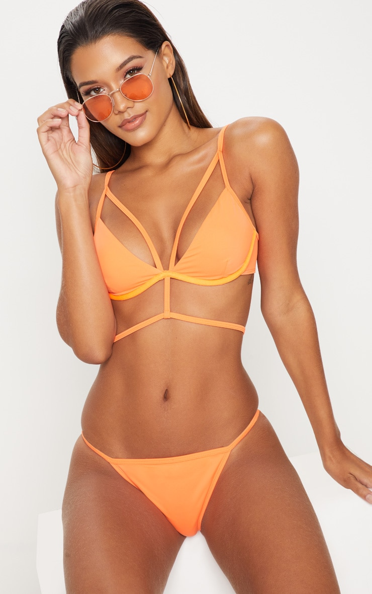 Orange Tanga Bikini Bottom 5