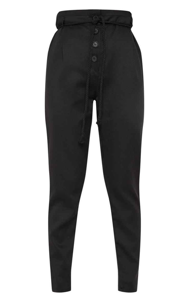 Black Rope Tie Detail Pants 3
