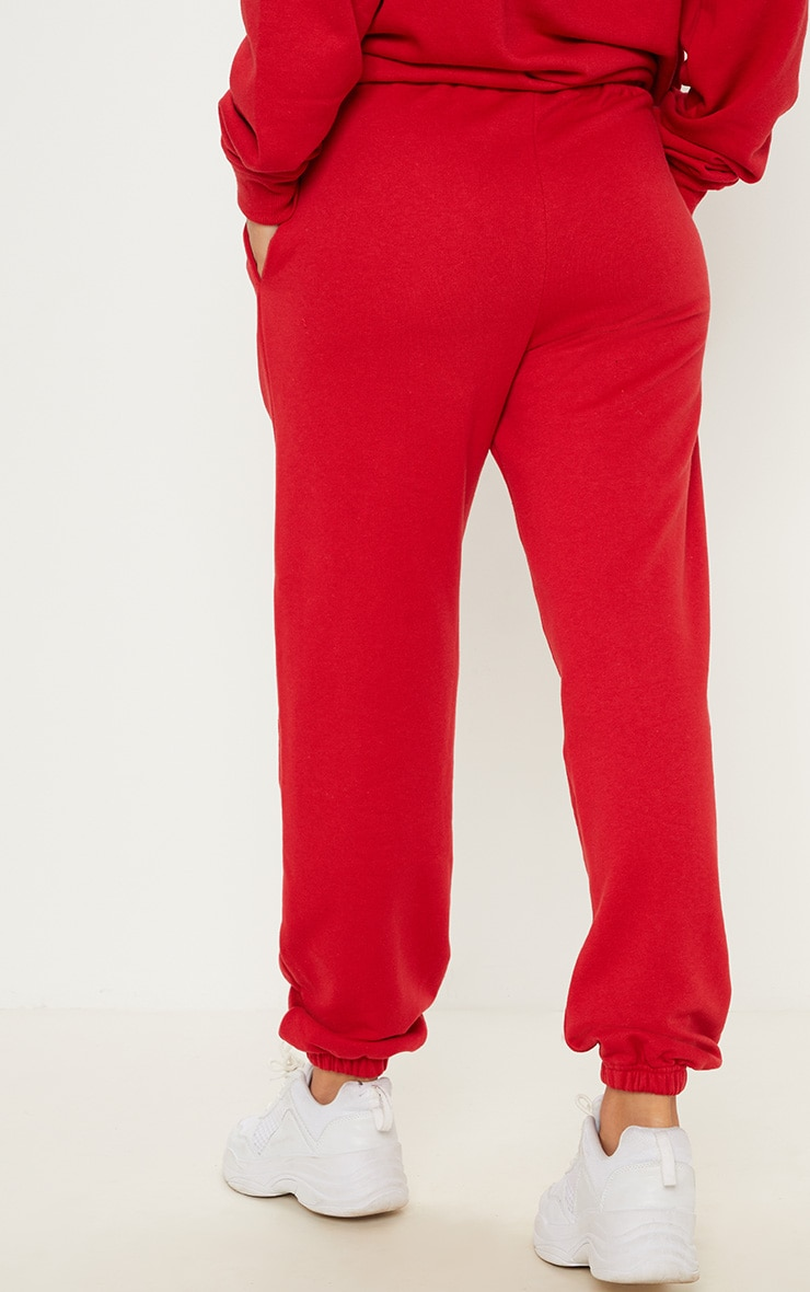 Red Casual Jogger 4
