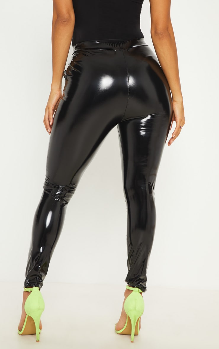 Black Vinyl Skinny Pants 4