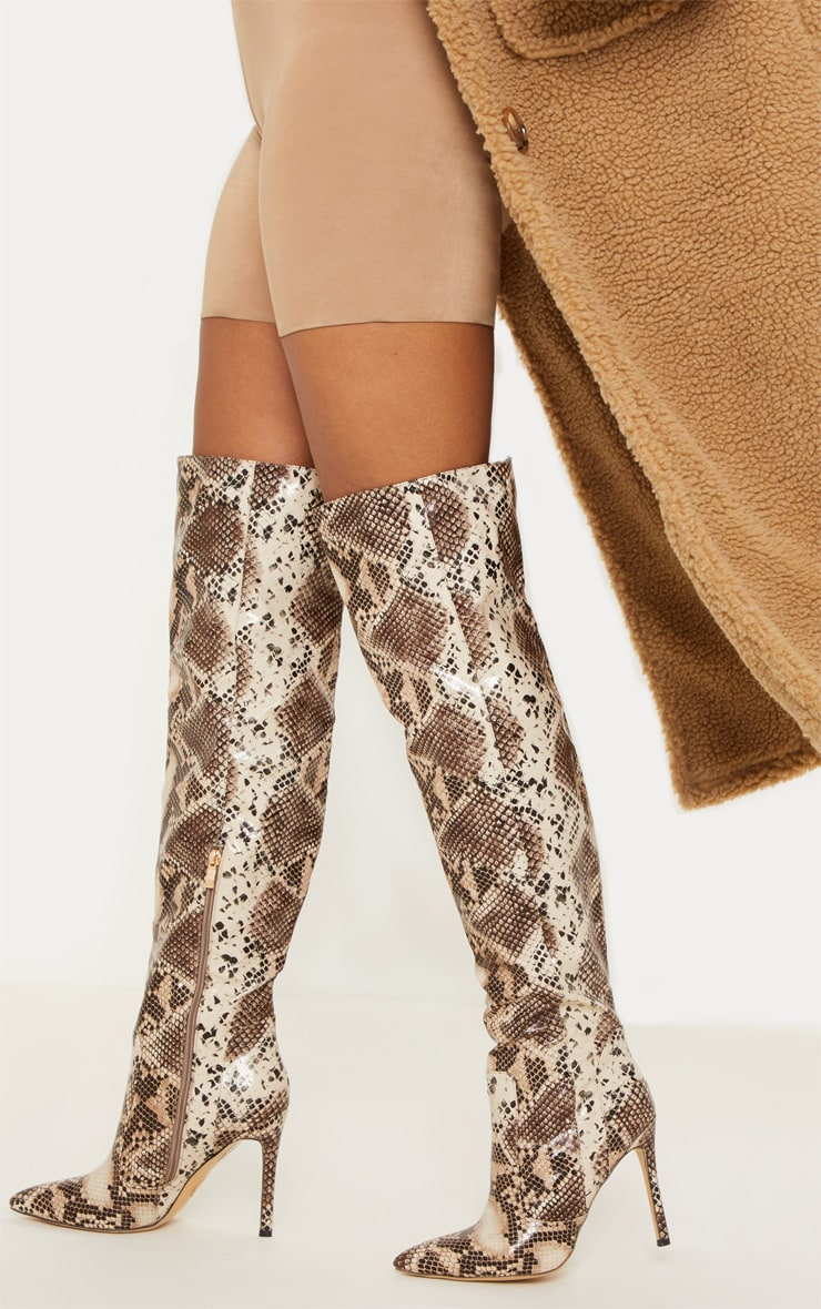 Snake Knee High Boot 1