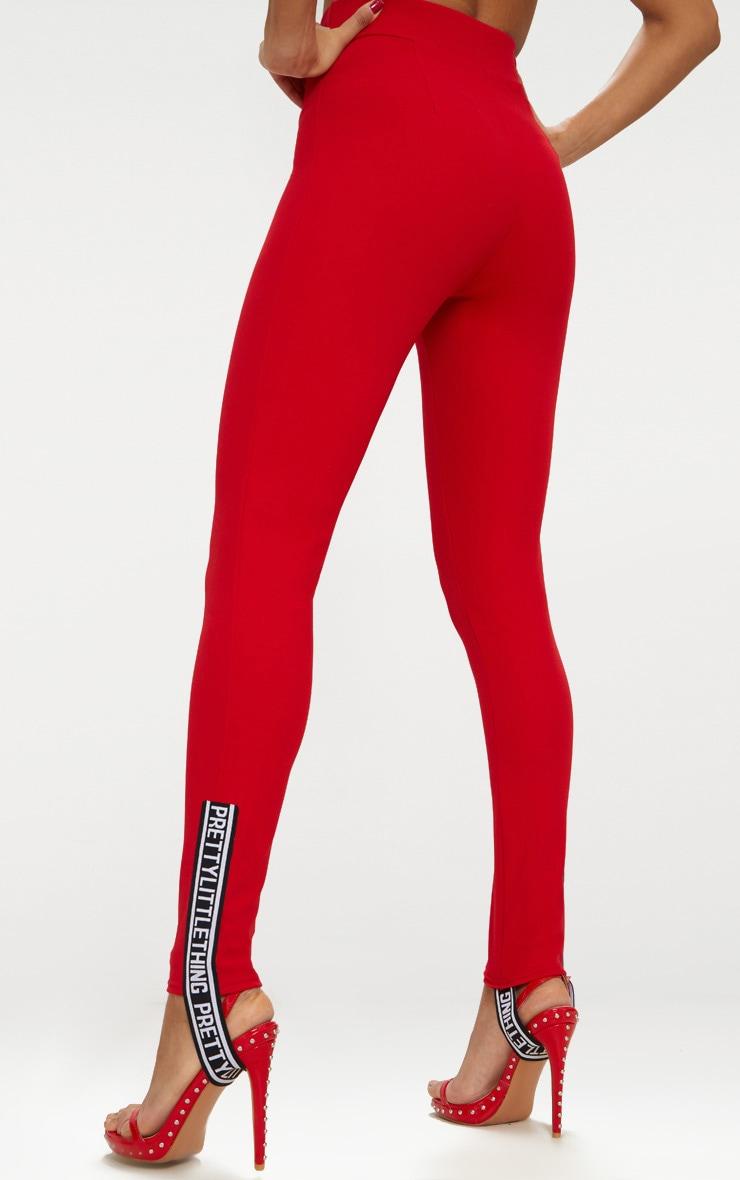 Red Skinny Stirrup Trouser 4
