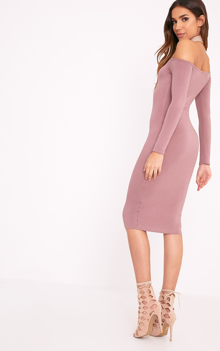 Basic Truffle Jersey Bardot Midi Dress 2