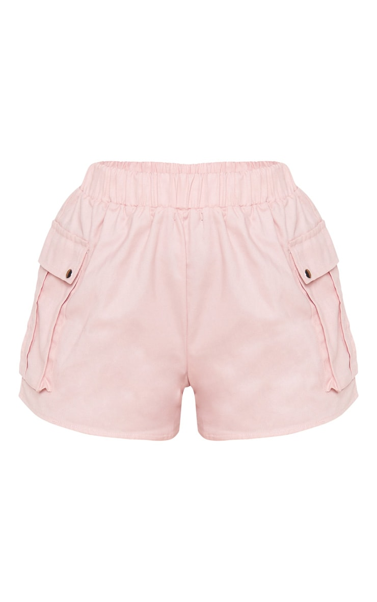 Petite Dusty Pink Cargo Pocket Shorts 3