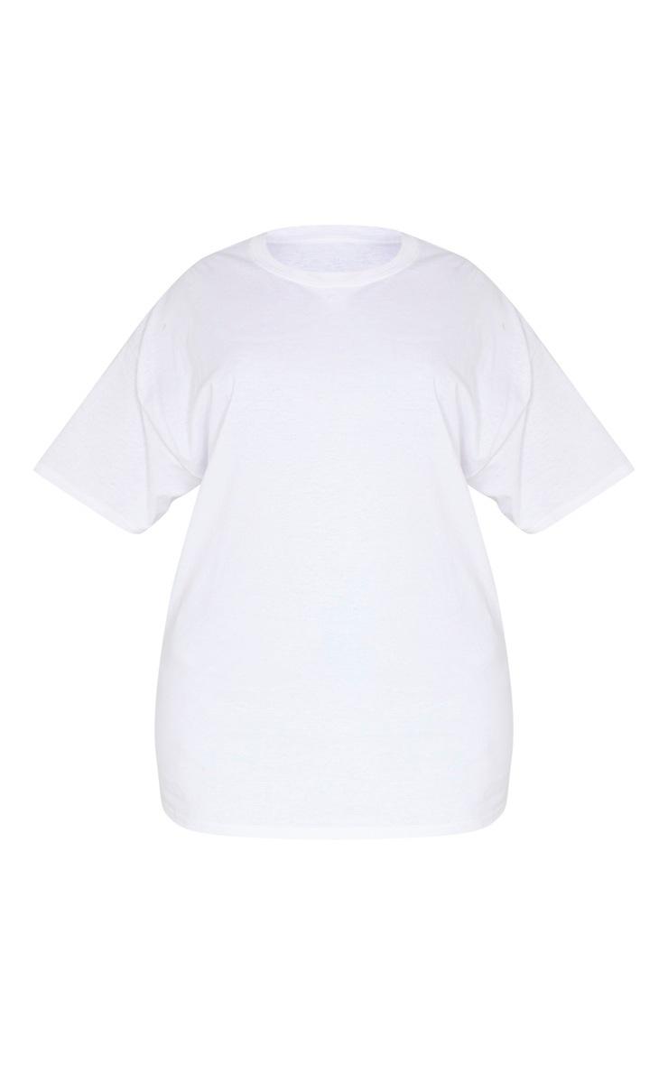 Plus White Oversized Basic Bitch Slogan T Shirt 3