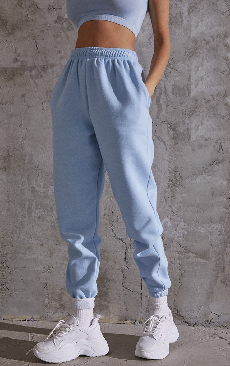 Light Blue Sweat Pant Joggers 2