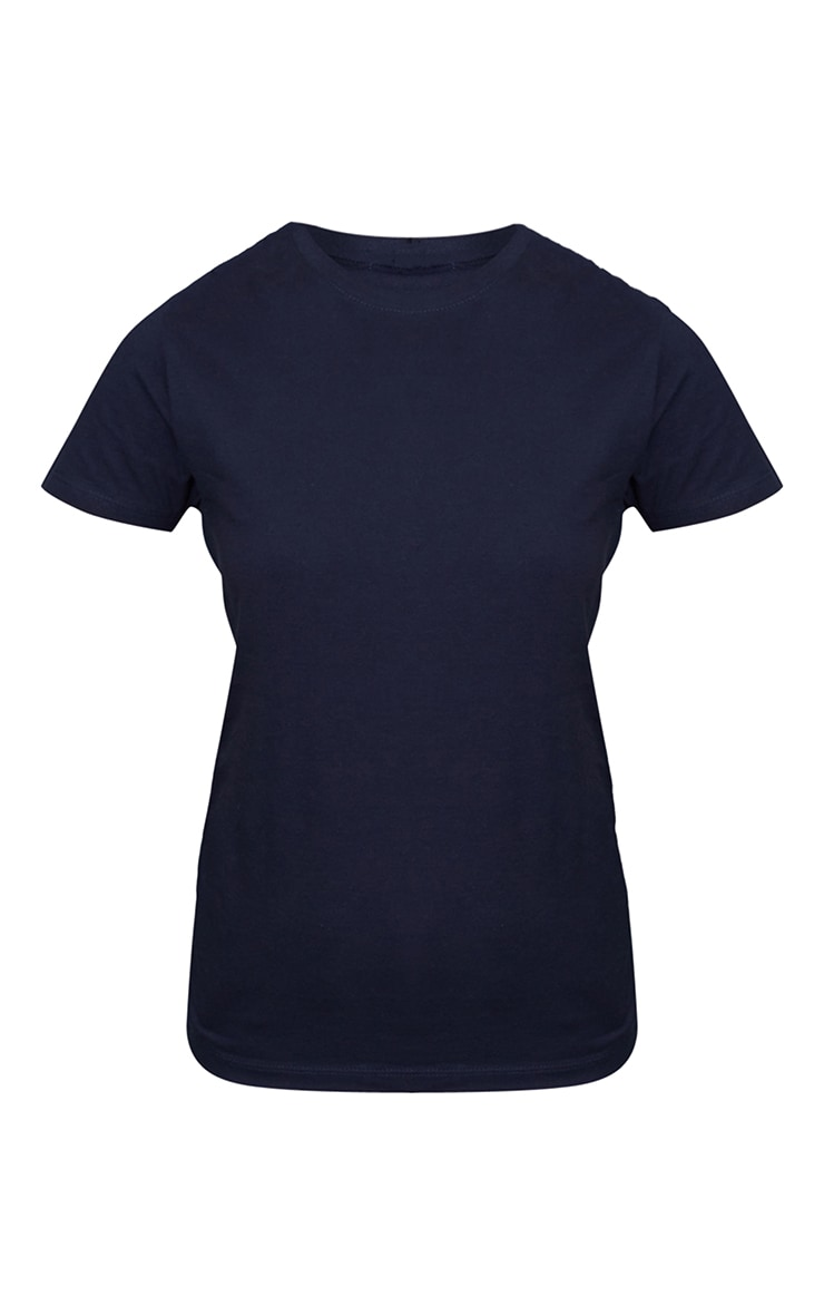 Navy Fitted Short Sleeve T Shirt 5