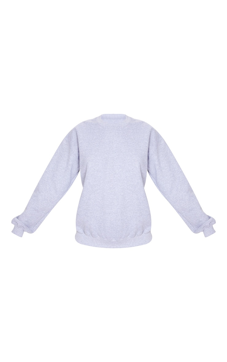 Grey California Slogan Oversized Sweater 3