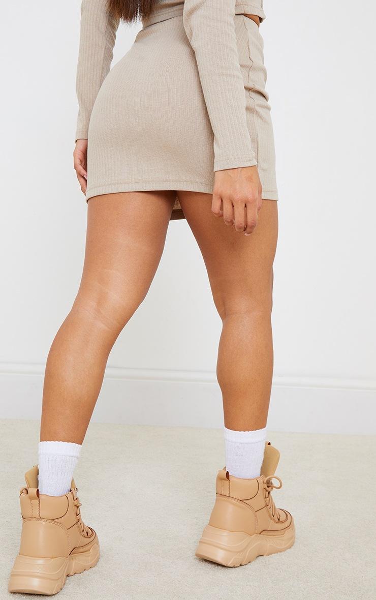 Petite Stone Ribbed Bodycon Skirt 6