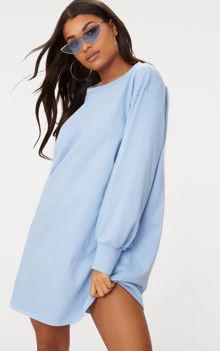 Powder Blue Oversized Sweater Dress 4
