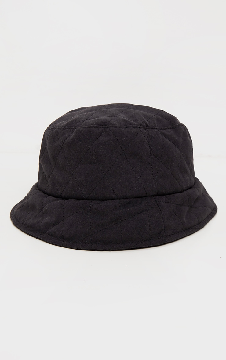 Black Quilted Bucket Hat 2