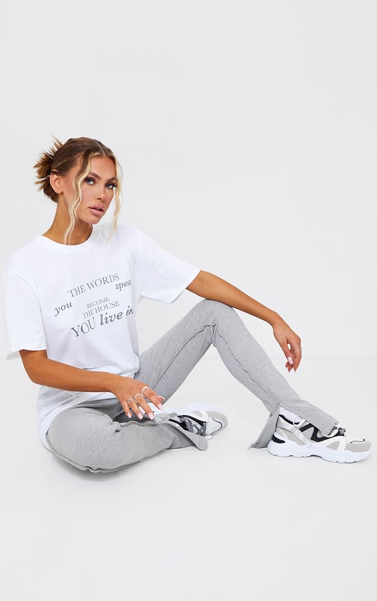 White Words You Speak Printed T Shirt 3