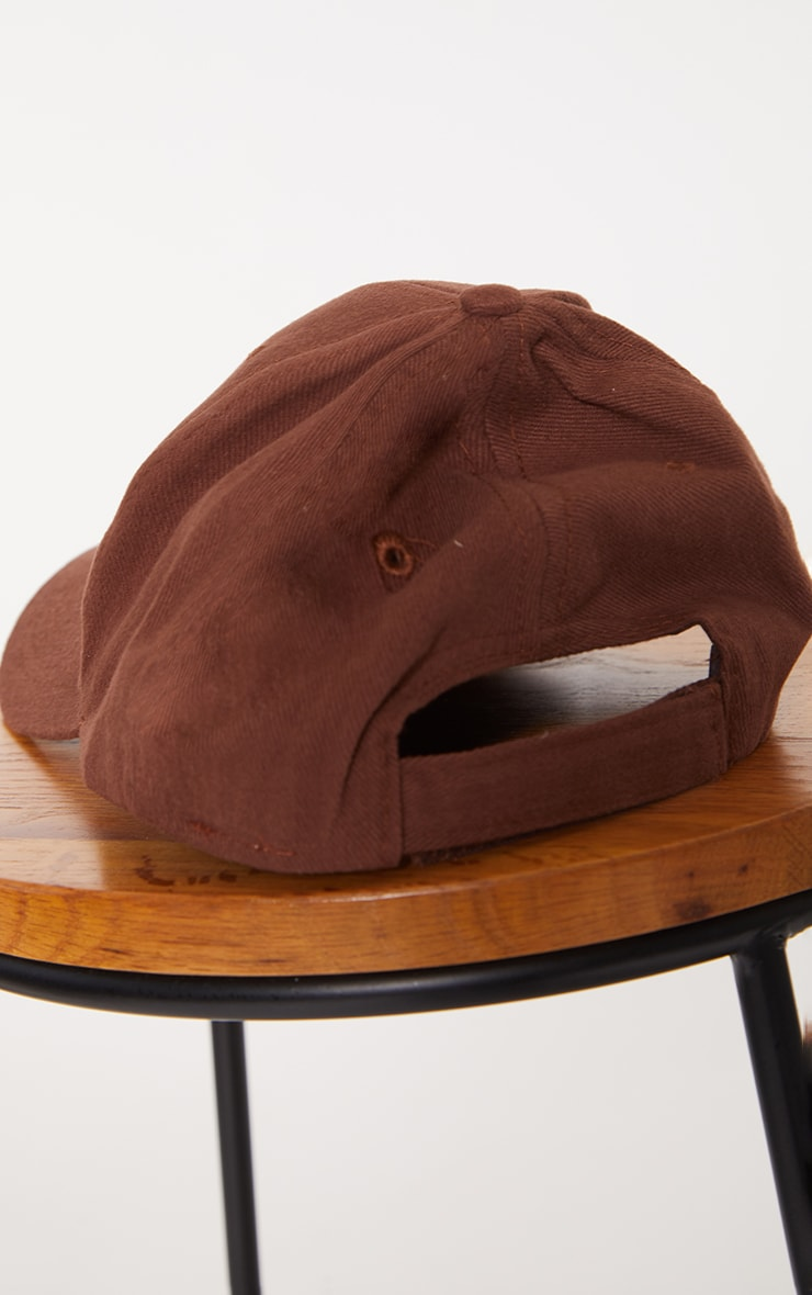Chocolate Woven Baseball Cap 3