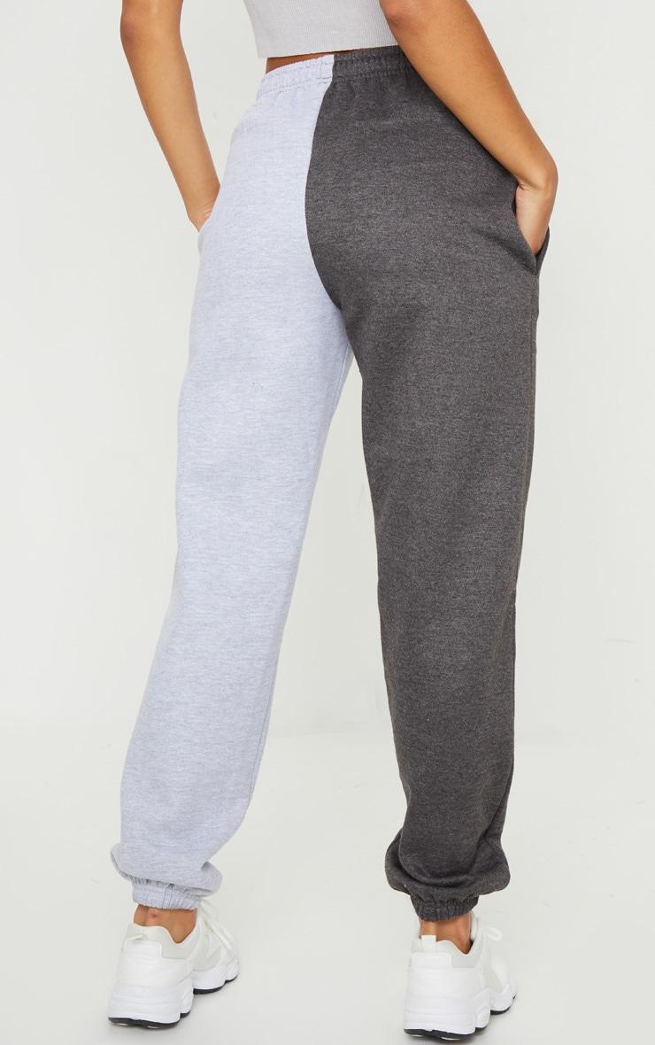 Grey Contrast Leg Joggers 3