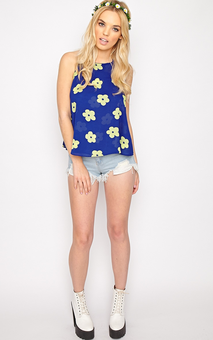 Lydia Green Floral Swing Vest  5