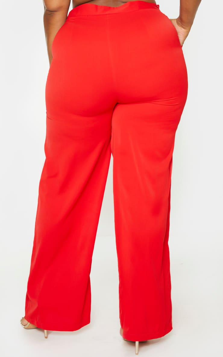 Plus Red Extreme Wide Leg Trouser 4