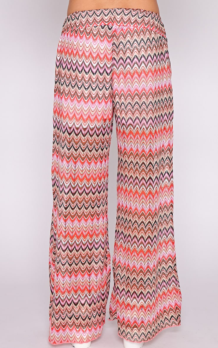 Machiko Red Zig Zag Trouser  2