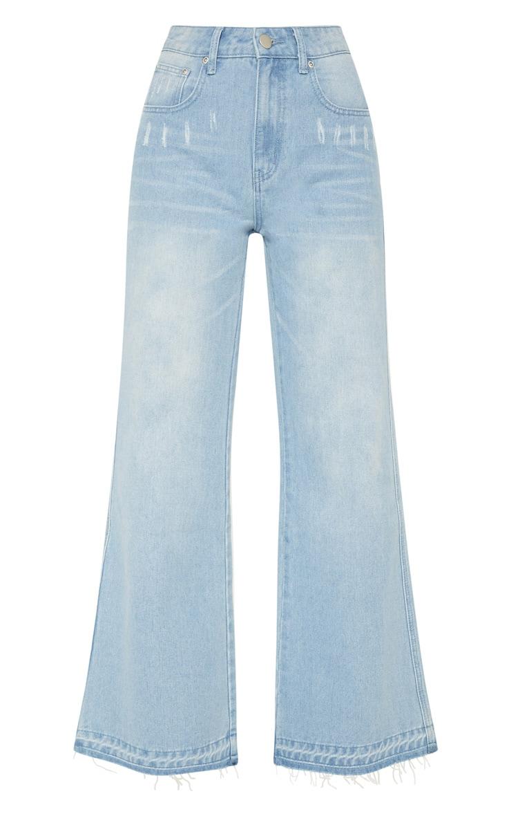 Light Wash Flared Jean  3