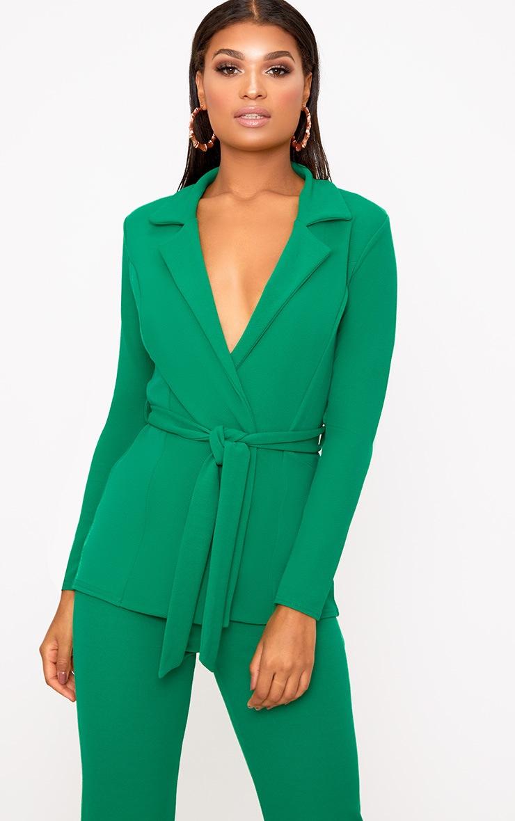 Green Belted Blazer 1