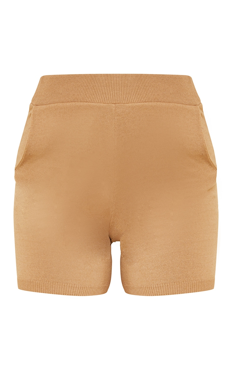 Stone Soft Knitted Pocket Detail Cycling Short 6