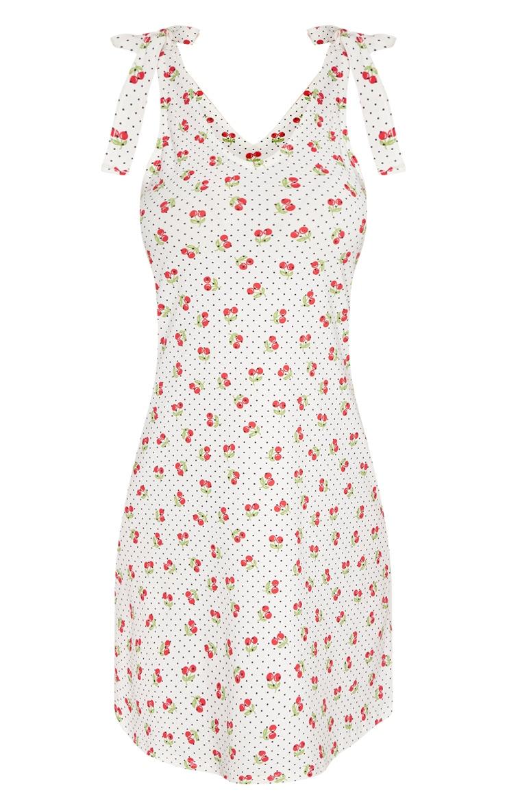 Tall Cherry Print Strappy Tie Slip Dress 3