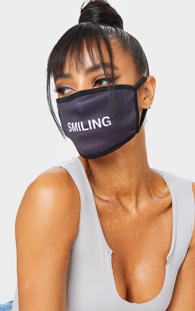 Black Smiling Face Mask 1