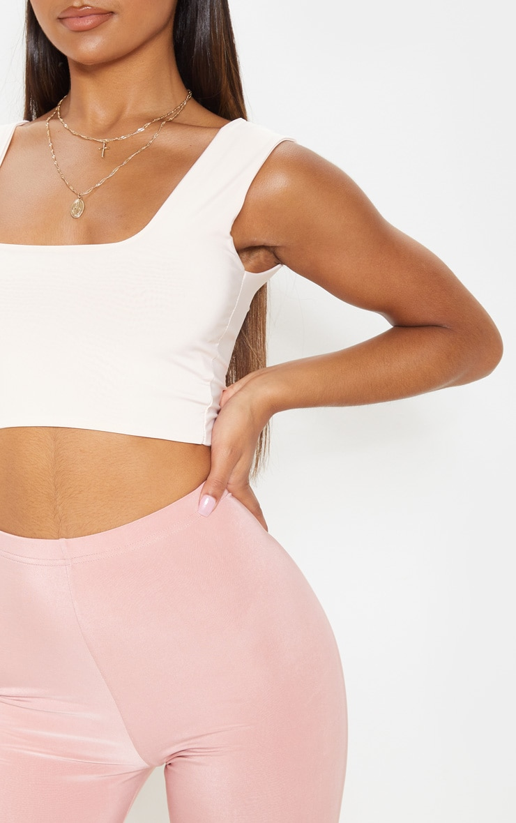 Dusty Rose Slinky High Waisted Cycle Shorts 6