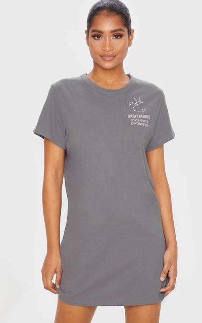 Charcoal Grey Sagittarius Definition Slogan T Shirt Dress