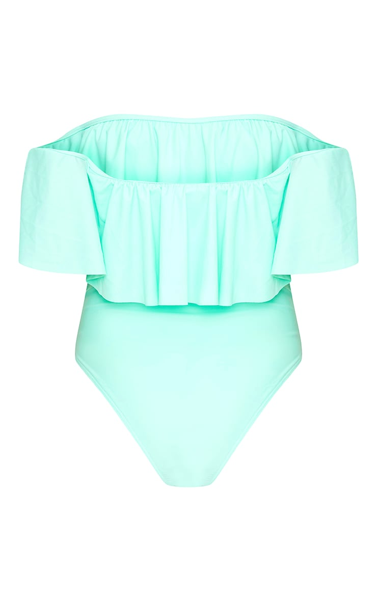 Mia Mint Bardot Frill Swimsuit  2