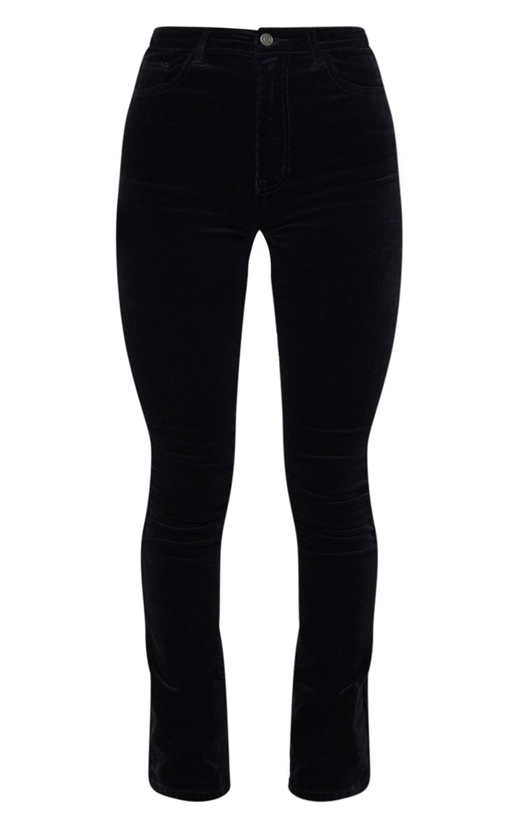 Black Cord Flare Jeans 3