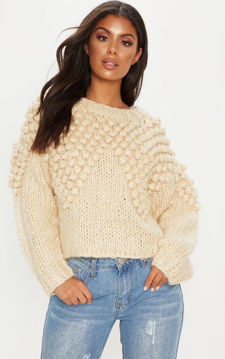 Stone Bobble Knit Sweater 4