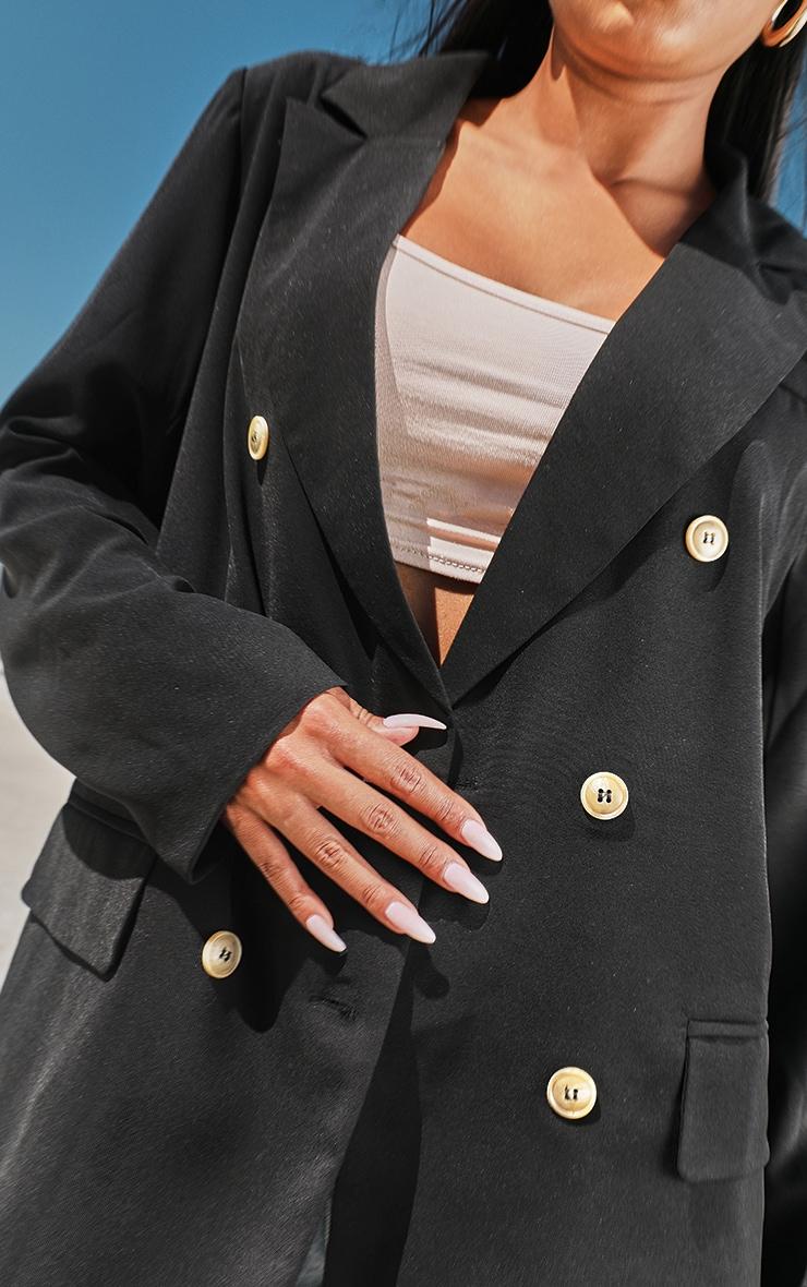 Black Woven Tailored Blazer 4