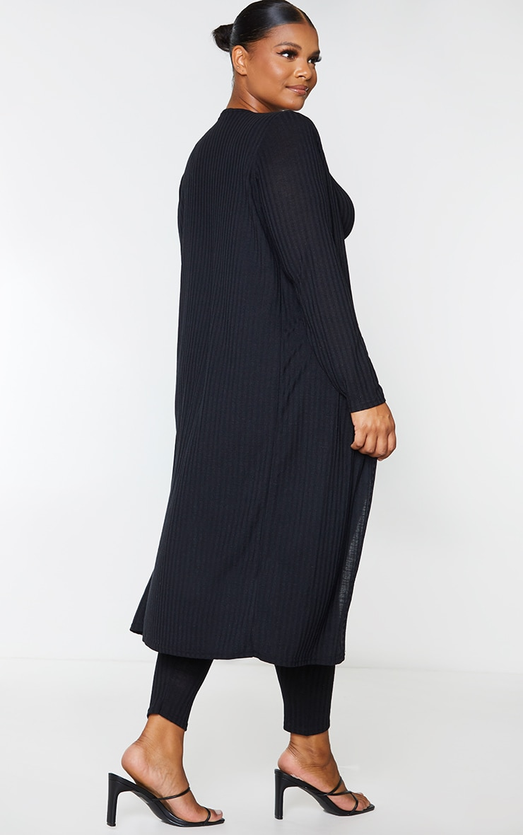 Plus Black Knitted 3 Piece Legging Set 2