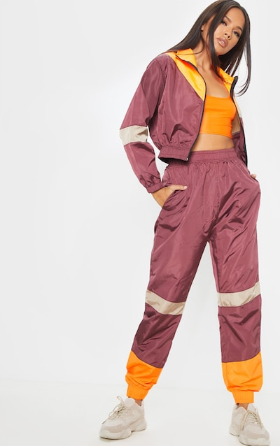 new lower prices great fit new arrival Burgundy Colourblock Jogger