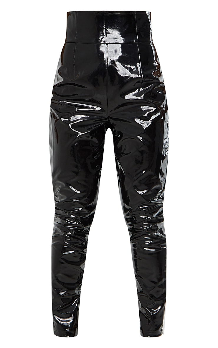 Black Vinyl Skinny Trousers 5